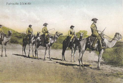 Deutsch-Südwest-Afrika, Patrouille der Schutztruppen