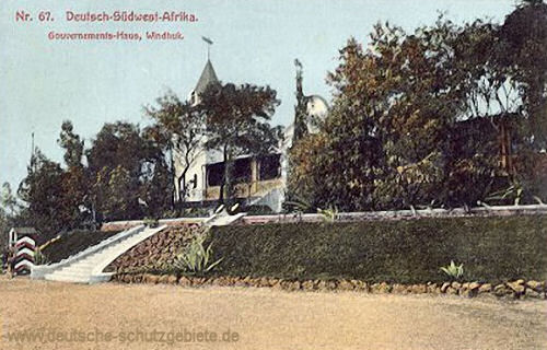 Deutsch-Südwest-Afrika, Windhuk, Gouvernements-Haus