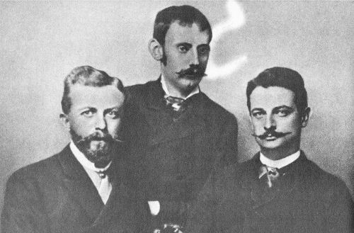 Dr. Karl Jühlke, Dr. Carl Peters, Joachim Graf Pfeil in Berlin 1884