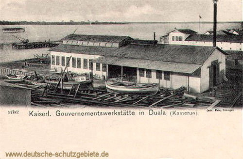 Kamerun, Kaiserliche Gouvernementswerkstätte in Duala