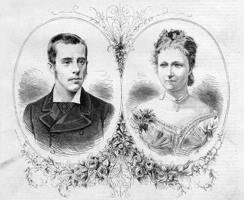 Kronprinz Rudolf mit seiner Verlobten Prinzessin Stephanie