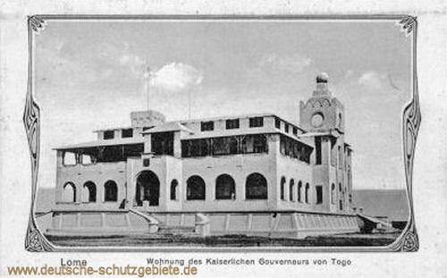 Lome, Wohnung des Kaiserlichen Gouverneurs von Togo