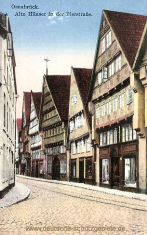 Osnabrück, Alte Häuser in der Bierstraße