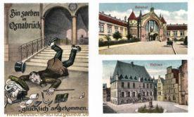 Osnabrück, Bin soeben glücklich angekommen, Bahnhof, Rathaus