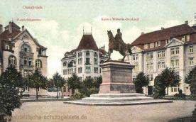 Osnabrück, Handelskammer und Kaiser-Wilhelm-Denkmal