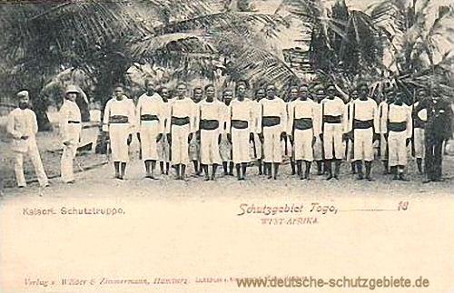 Schutzgebiet Togo, Kaiserliche Schutztruppe