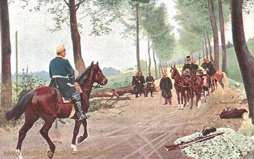 Bismarck und Napoleon III. bei Donchery (nach der Schlacht bei Sedan)