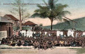 Deutsch-Neu-Guinea. Erstes Missionsfest auf dem Sattelberg
