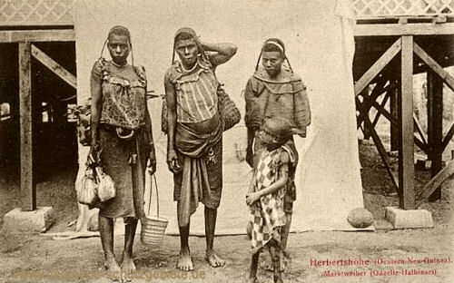 Deutsch-Neu-Guinea, Herbertshöhe, Marktweiber (Gazelle-Halbinsel)