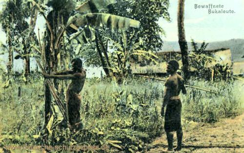 Deutsch-Neuguinea, Bewaffnete Bukaleute