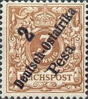 Deutsch-Ostafrika 2 Pesa, 1896