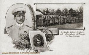 G. Soelle, Kaiserl. Polizei- und Hafenmeister mit Truppe in Neu-Guinea