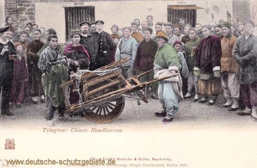 Kiautschou, Tsingtau, Chinesische Handkarren