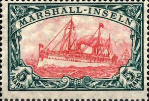 Marshall-Inseln, 5 Mark, 1900