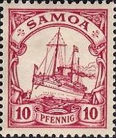 Samoa 10 Pfennig, 1900