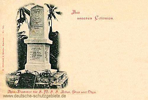 Samoa, Apia-Denkmal für S.M.S. Adler, Eber und Olga