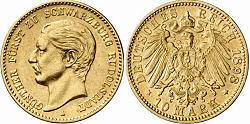 10 Mark 1898, Günther Fürst zu Schwarzburg Rudolstadt