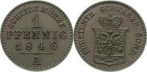 1 Pfennig 1846, Schwarzburg-Sondershausen