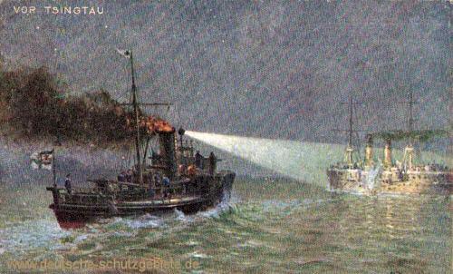 Torpedoboot S90 versenkt den japanischen Kreuzer Takatschio