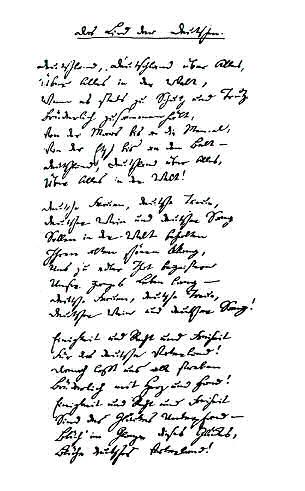 Original-Handschrift des Deutschlandliedes