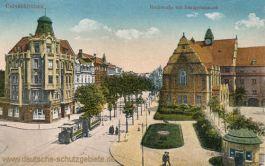 Gelsenkirchen, Hochstraße mit Realgymnasium