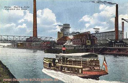 Herne, Hafen mit Zeche Friedrich der Große