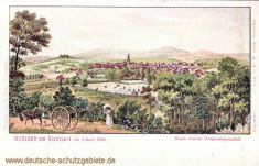 Iserlohn vom Stadtpark im Jahre 1810