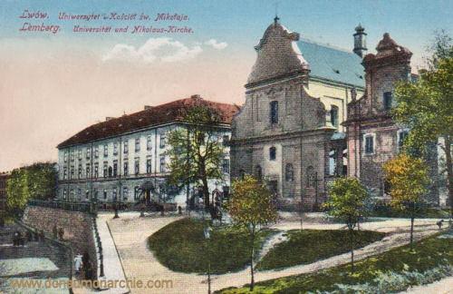 Lemberg, Universität und Nikolaus-Kirche