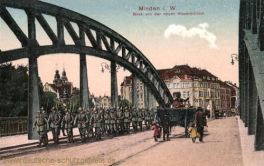 Minden i. W., Blick von der neuen Weserbrücke