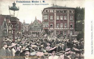 Minden i. W., Freischiessen Ausmarsch der Bürger-Compagnie