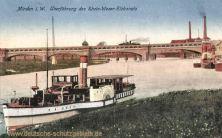 Minden i. W., Überführung des Rhein-Weser-Elbkanals