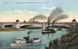 Minden i. W., Überführung des Mittellandkanals über die Weser