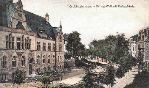 Recklinghausen, Herzog-Wall mit Kreisgebäude
