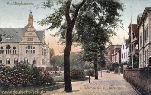 Recklinghausen, Herzogswall mit Kreishaus