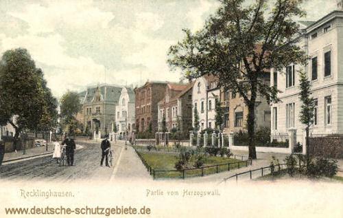 Recklinghausen, Partie vom Herzogswall