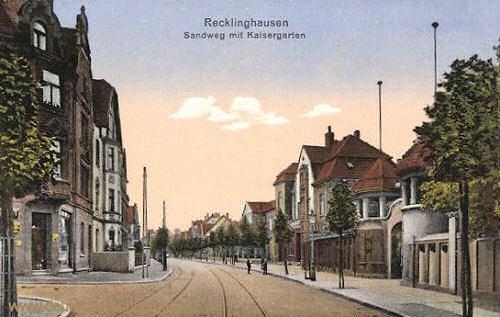 Recklinghausen, Sandweg mit Kaisergarten