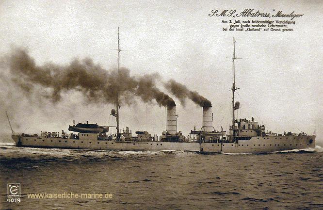 S.M.S. Albatross, Minenleger