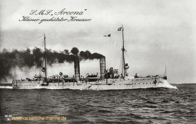 S.M.S. Arcona, Kleiner Kreuzer