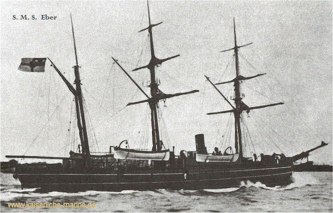 S.M.S. Eber, Kanonenboot 1887