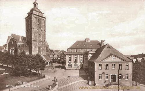 Siegen, Rathaus und Nicolai-Kirche