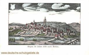 Siegen im Jahre 1646 nach Merian