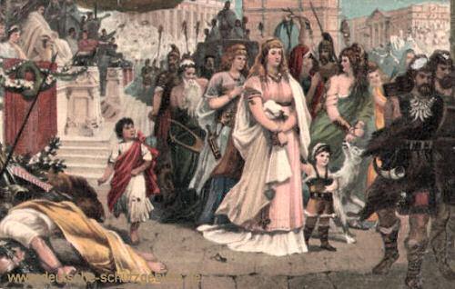Thusnelda im Triumphzug des Germanicus in Rom