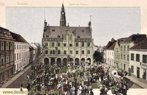 Bocholt, Markt mit Rathaus