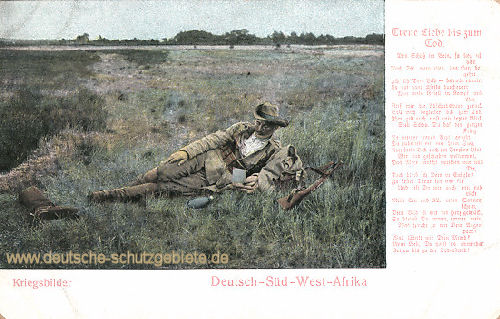 Deutsch-Südwestafrika, Kriegsbilder - Treue Liebe bis zum Tod