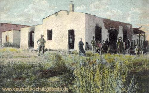 Deutsch-Südwestafrika, Zerstörte Wagenbauerei 1904
