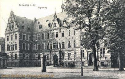 Münster i. W., Regierung