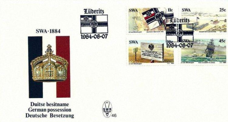 100. Jahrestag der Deutschen Besetzung von Südwestafrika im Jahr 1884