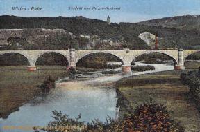 Witten, Viadukt und Berger-Denkmal