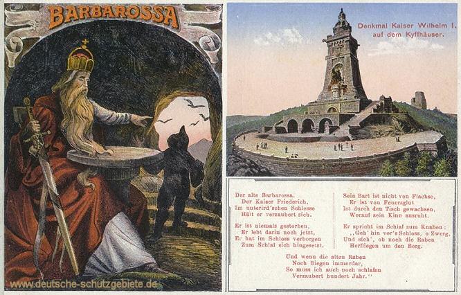 Barbarossa, Denkmal auf dem Kyffhäuser