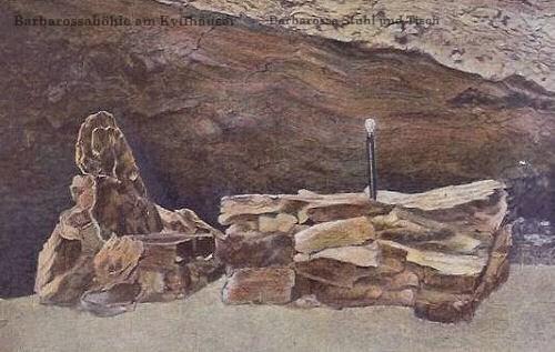Barbarossahöhle am Kyffhäuser, Barbarossa Stuhl und Tisch